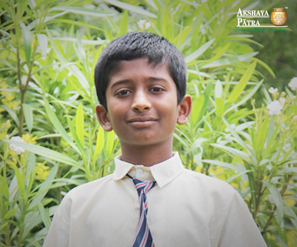 """I like writing essays and poetry. I even represented my school at an essay competition in Dharwad and I came first. But science has been my favourite subject. My parents have always been supportive of me and want me to do my best in school. Even my teachers have faith in me. This gives me lots of confidence. I feel happy to come to school especially to learn new things every day. Another reason is the mid-day meal served by Akshaya Patra. The food is filled with vegetables which are healthy, tasty and nutritious."" - Mahantesh, Hubballi"