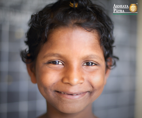 """Before I wasn't in good health and I lacked nutritious food. But after coming to school and eating the Akshaya Patra mid-day meals, my heath has improved. I don't want to see people hungry, so I have decided that when I grow up I will serve the needy."" - Runiguru, Puri"