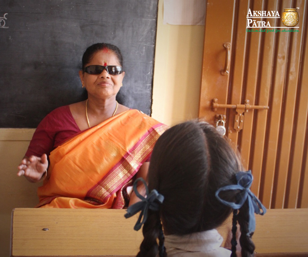 "Being visually impaired, I attended the Deaf and Blind School in Mysuru. Because of my voice, my parents encouraged me to study music. After I passed my seniors in classical music, I applied for a job and then I started teaching. I enjoy teaching because for me music is a way of life. It connects me to people in a manner which cannot be expressed."" - Shantha Kumari, Mysuru"