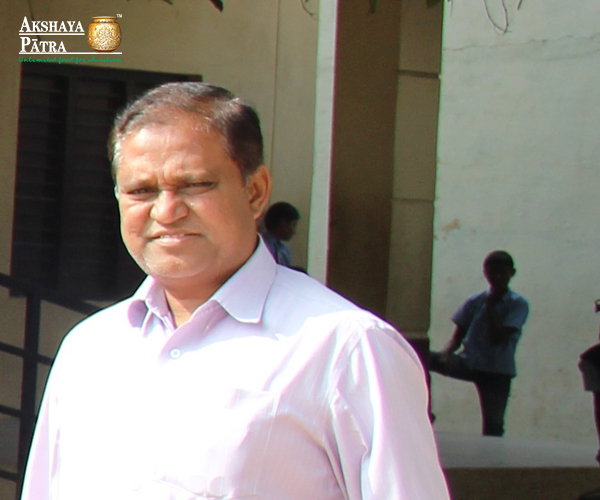 """Food is an important factor for many students in this school. A child needs food to study and we ensure that every child in the school is fed well. Akshaya Patra is doing great work by feeding these children in our school. For some it's a blessing because they don't eat food at home every day."" - Syed Basheer, Teacher, Hyderabad"