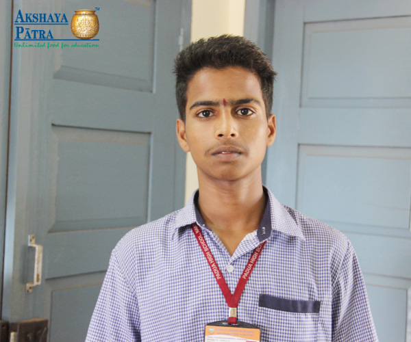 """Ever since I joined the NCC in school, I always dreamt of becoming an army officer. My dream is to serve my nation. Even my teachers in school always support me. I like coming to school as I get an exposure to so many things in life. In the afternoon, we get the mid-day meals served by Akshaya Patra and it is delicious. My favourite dish is the tomato bath. It nourishes the body and improves concentration in class.""- Chandrashekar, Mangaluru, Karnataka"