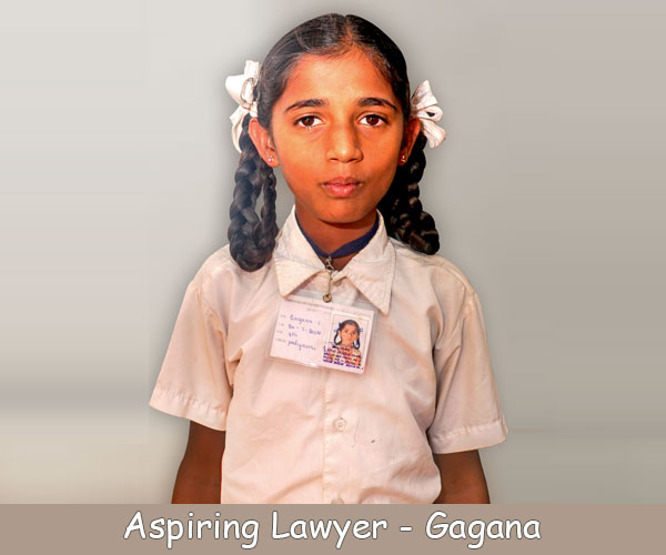 Hi, I'm a Std VII Akshaya Patra beneficiary from Jytohipura, Bengaluru! I want to become a lawyer because I want to throw all wrongdoers in jail. I like the way people respect lawyers and the power they enjoy. I would uphold the law and protect the client's rights. I will remain loyal to my work and not accept bribe.  – Gagana, Bengaluru, Kanataka