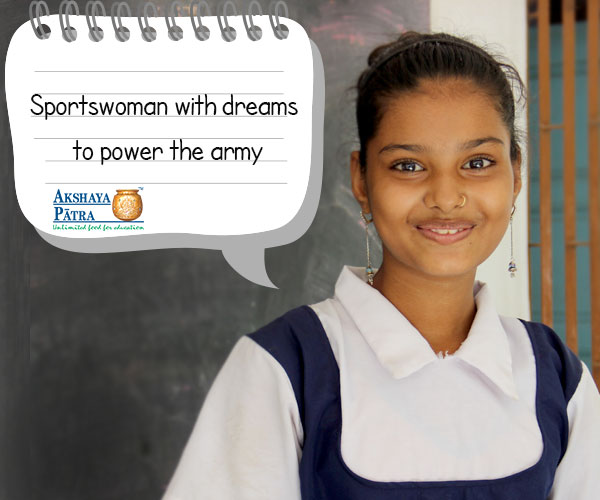 """I am determined to join the army and protect the nation. I love sports, my favourite being Long Jump. I like attending school all enjoy studying subjects, particularly English."" – Zinkal, Ahmedabad, Gujarat"