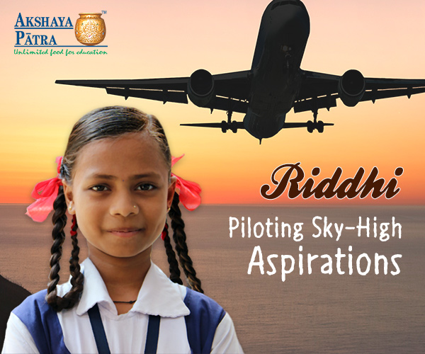"""""""I study in Std VII in Vadodara, Gujarat and want to become a pilot. I like playing badminton and participating in competitions, especially drawing contests. My favourite dish is Chana Dal and Bhath."""" – Riddhi Barot, Vadodara, Gujarat"""