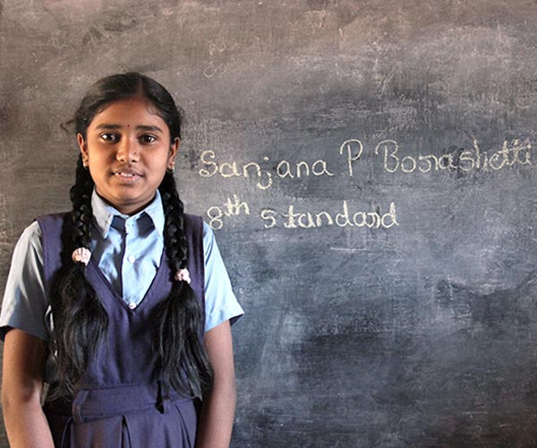 """When I grow up, I want to become a District Collector (DC) so that I can put an end to bribes. For me mid-day meal is very important. Rice and Sambar, and Pulao are my favourites."" Sanjana Borashetti, Hubballi, Karnataka"