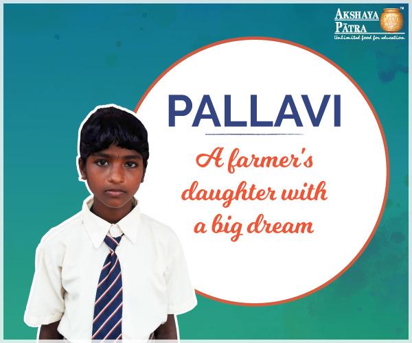 """Hello, I study in GHPS Somalapura, Sandur, Karnataka. I want to be an IAS Officer. I love Pulao served by Akshaya Patra."" – N. Pallavi, Bellary, Karnataka."