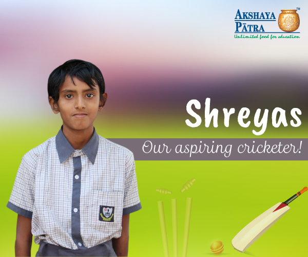 """Hello, I study in Dr Ambedkar Secondary School and Junior College in the Untakhana, Nagpur. I want to become a cricketer. I like the subzi, especially the soyabean nuggets."" – Shreyas, Untakhana, Nagpur"