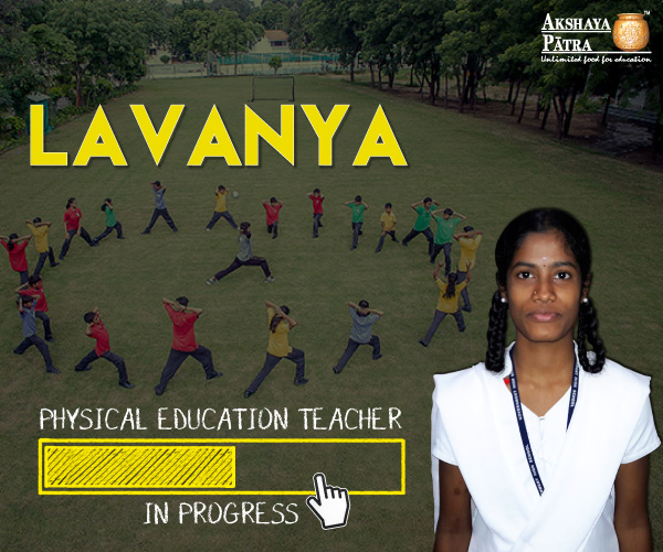 """Hello to all, I study in Standard 10 at GHS, Wilson Garden - Bengaluru. I desire to specialize as a Physical Education (P.E.) Teacher. I extend my heartfelt thanks for the school meals that I have. I feel energetic after having the meals. It keeps me going for the whole day."" – Lavanya."
