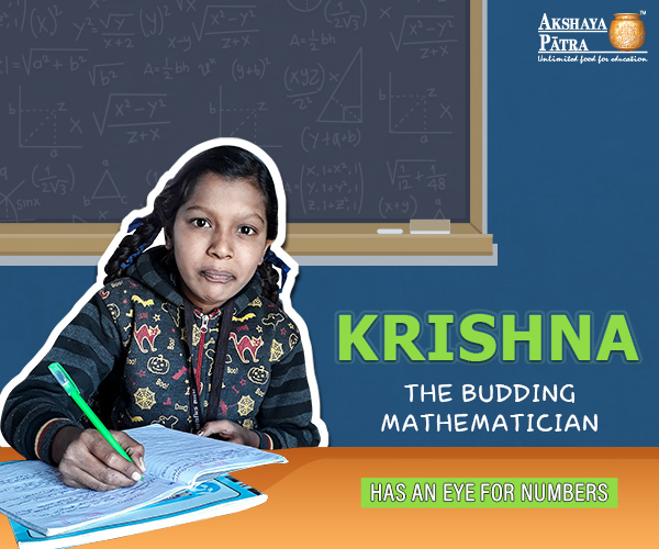 """Hello All! My name is Krishna K. Parmar. I study in Standard VI at Dhanot Primary School near Chhatral GIDC, Gujarat. I dream to be a mathematician to reduce any problem down to its simplest form. Born in a humble family, I have learnt that for people like us, only dedication and commitment are the keys to success."" – Krishna, Gujarat."