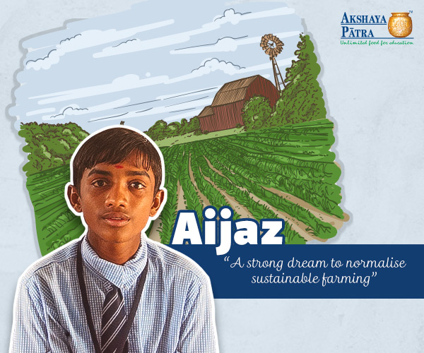 Eating healthy food makes us healthy and helps us function at our best. This is what Aijaz Akbar, a 10-year-old student of Chandanwadi's Thane Mahanagara Palika Shikshana Mandali believes in, and wants to develop sustainable farming in his village. He has seen how his father is undergoing a huge loss by spending more on growing crops but not getting enough in return. Aijaz aims to reverse this scenario to help people like his father.