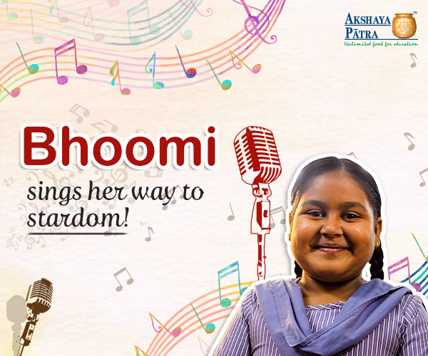 12-year old Bhoomi stays away from her parents but never shows that she misses them. Instead, she finds a way out to remember them in the meals that she receives at her school - TMC Number 20, Thane, Maharashtra. She idolizes Neha Kakkar and wants to become a famous singer like her. No matter which event, she always raises her hand to volunteer in singing.